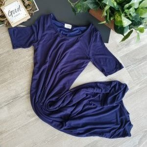 Fantastic Fawn Navy Blue Jersey Fitted Midi Dress